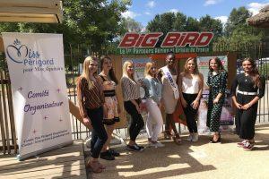 Les candidates au titre de Miss Périgord 2018 reçues par le Big Bird.